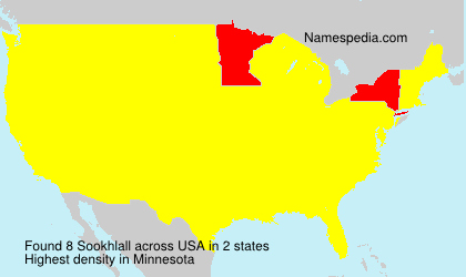 Surname Sookhlall in USA