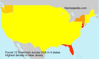 Surname Sookhram in USA