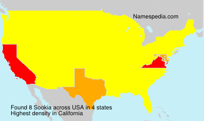 Surname Sookia in USA