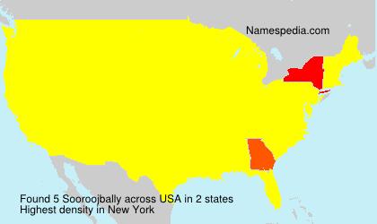 Surname Sooroojbally in USA
