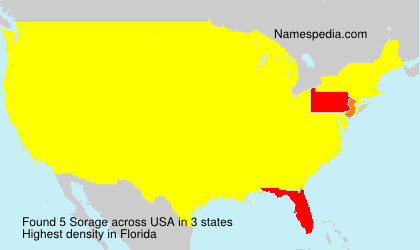 Surname Sorage in USA