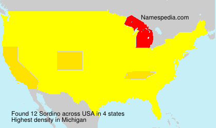Surname Sordino in USA