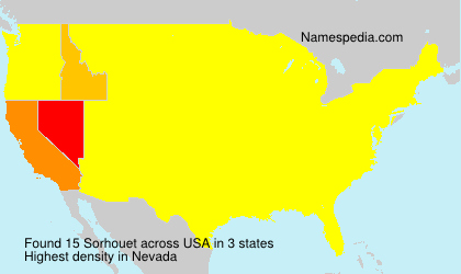 Surname Sorhouet in USA