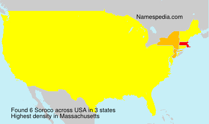 Surname Soroco in USA