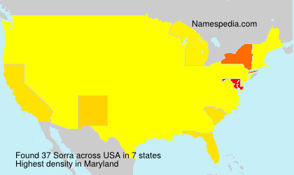Surname Sorra in USA