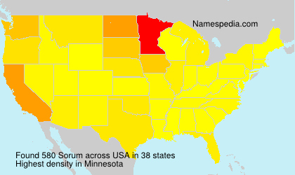 Surname Sorum in USA