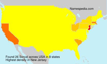 Familiennamen Soryal - USA
