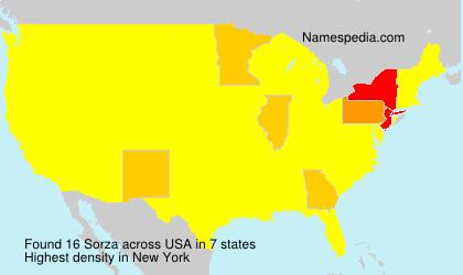 Familiennamen Sorza - USA