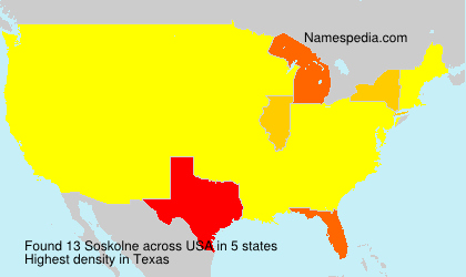 Surname Soskolne in USA