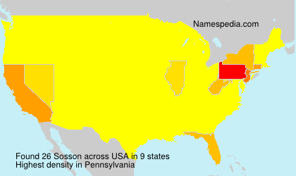 Surname Sosson in USA