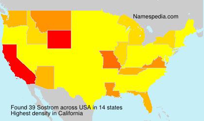 Surname Sostrom in USA