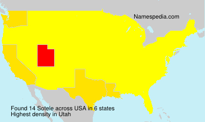 Surname Sotele in USA