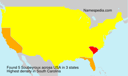 Surname Soubeyroux in USA