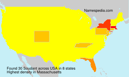 Surname Soudant in USA