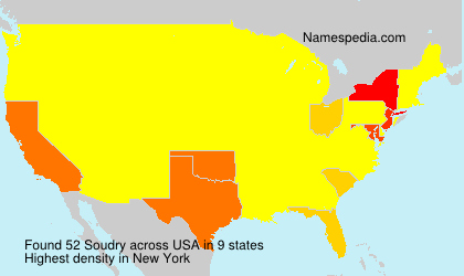 Surname Soudry in USA