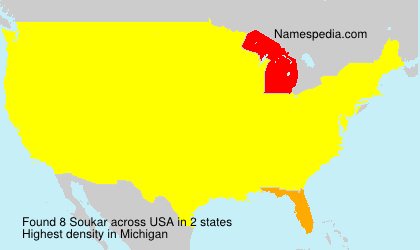 Surname Soukar in USA