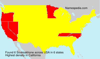 Surname Souksakhone in USA