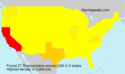 Surname Souksamlane in USA