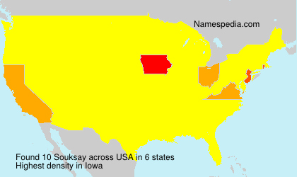 Familiennamen Souksay - USA