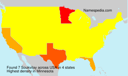 Surname Soukvilay in USA