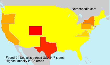 Familiennamen Soulakis - USA