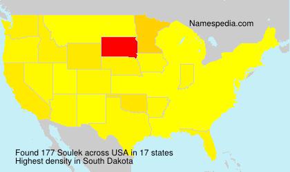Surname Soulek in USA