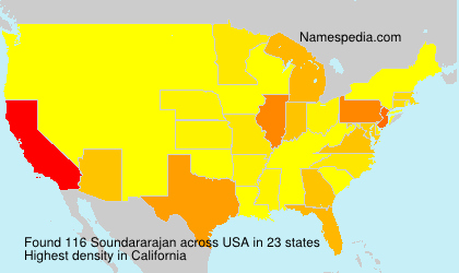 Surname Soundararajan in USA