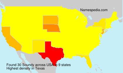 Familiennamen Soundy - USA