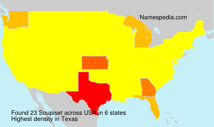 Surname Soupiset in USA