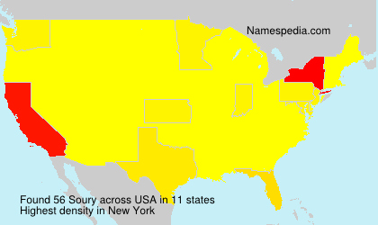 Surname Soury in USA