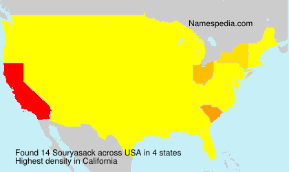 Surname Souryasack in USA
