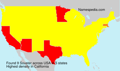 Surname Souster in USA