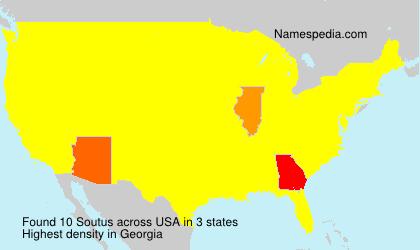 Surname Soutus in USA