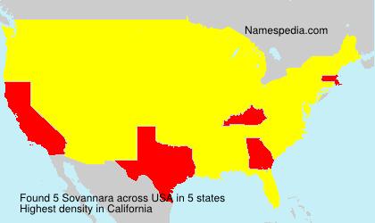 Surname Sovannara in USA