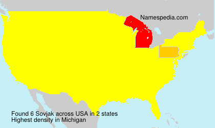 Surname Sovjak in USA