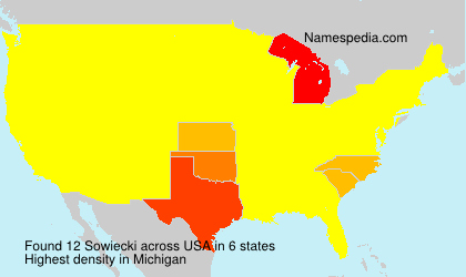 Surname Sowiecki in USA