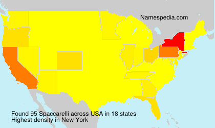 Familiennamen Spaccarelli - USA