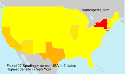 Surname Spadinger in USA