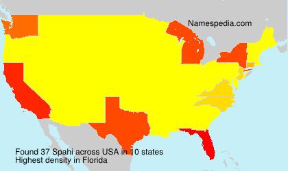 Surname Spahi in USA