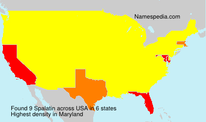 Surname Spalatin in USA