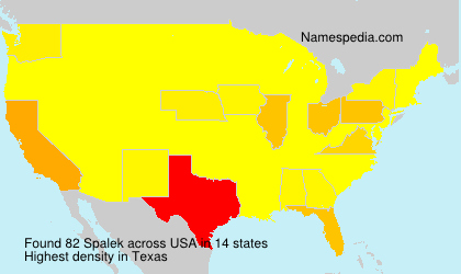 Surname Spalek in USA