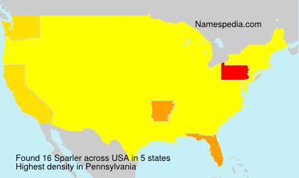 Surname Sparler in USA
