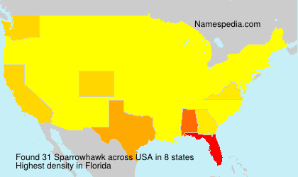 Surname Sparrowhawk in USA