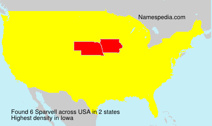 Surname Sparvell in USA