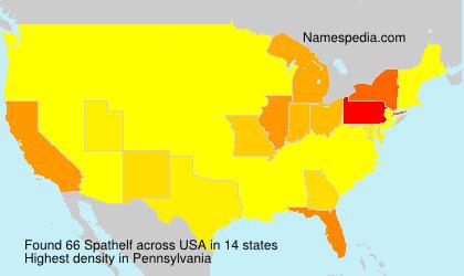 Familiennamen Spathelf - USA
