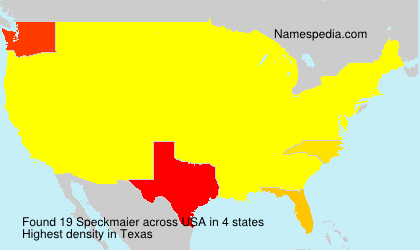 Surname Speckmaier in USA