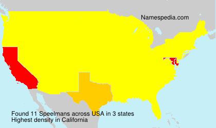 Familiennamen Speelmans - USA