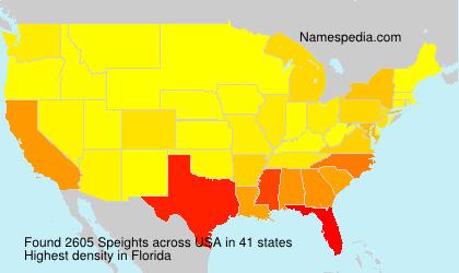 Familiennamen Speights - USA
