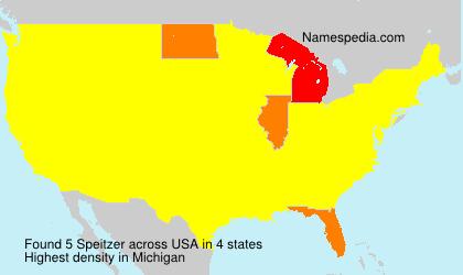Familiennamen Speitzer - USA
