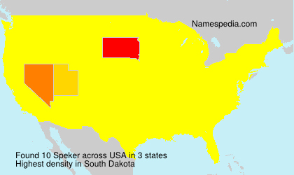 Surname Speker in USA